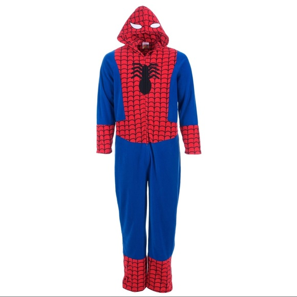 0c1b59fd96e2 Adult Spiderman Onesie NWT